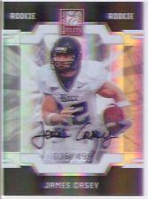 james casey rookie rc auto autograph texans rice owls elite #/499 college