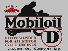 MOBIL MOBILOIL Segno Stile Vintage Garage Moto