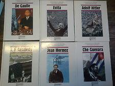 Lot de 6 livres Chroniques de l'histoire Les personnages du 20e siècle Mermoz ..