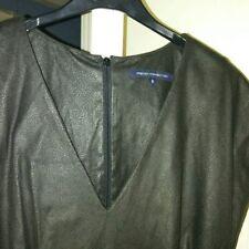 FRENCH CONNECTION vestito ecopelle nero
