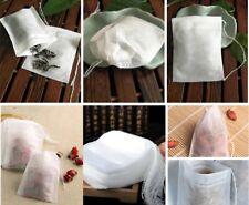 100 Pcs Non-woven Disposable Filter Empty Teabags Herb Loose Tea Bag 8*10 cm US
