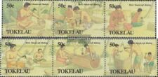Tokelau 177-182 triple strip (complete issue) unmounted mint / never hinged 1990