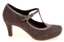 womans CLARKS ladies CHORUS THRILL TAUPE SUEDE SHOES size 7d