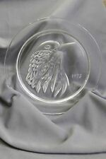 "Lalique FRANCE 1973 Glass Plate JAYLING BIRD 8"" NO BOX"