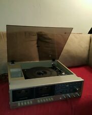VINTAGE MONTGOMERY WARD STEREO TURNTABLE, DUAL CASSETTE WORKS!!