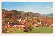 Postcard VILLAGE OF JEFFERSONVILLE NEAR MT. MANSFIELD, VERMONT, 1958