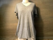 Mossimo Supply Co Women's Heather Gray Tee V-Neck T-Shirt Top XL SHORT SLEEVE