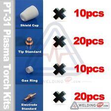 60Pcs Air Plasma Cutter fiamma ossidrica parti di consumo PT31 Cut40D CUT50 CT312