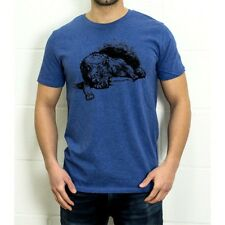 Wolf print T-shirt, Men's, Organic Cotton, Printed in London, Auteur