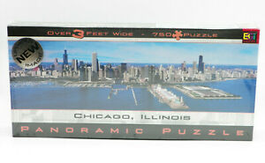 CHICAGO ILLINOIS Panoramic Puzzle 750 Pcs 3 FEET WIDE NEW SEALED FREE SHIPPING