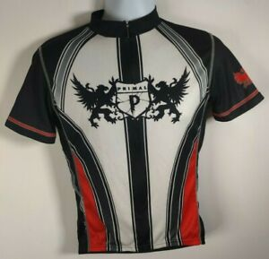 Primal Wear Cycling Jersey S/S Mens size M Medium Black White Double Griffin