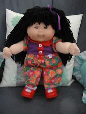 1995 cabbage patch kid doll asian MK 1 Mattel first edition o.a.a. black crib