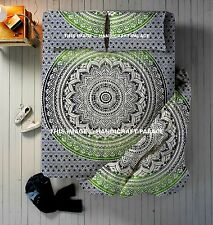 4 PC Set Ombre Mandala Printed Indian Duvet Cover & Bedsheet With 2 Pillow Cover