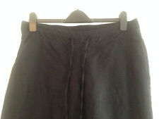 BNWT M&S Maternity Black Linen Blend Trousers Size 12