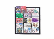 ENGLAND, LOT OF 16 STAMPS, CHRISTMAS ISSUES ALL DIFFER FINE USED