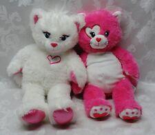 "BUILD A BEAR Plush Sparkle White Kisses Sounds Kitty Cat 17"" BAB Stuffed Animals"