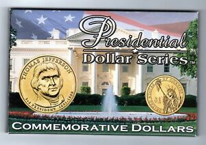 2007 PRESIDENTIAL DOLLAR SERIES THOMAS JEFFERSON  SET.