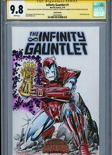 IRON MAN w/ Gauntlet Sketch cover art by BOB LAYTON CGC SS 9.8 Marvel Avengers