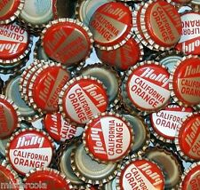 Soda pop bottle caps Lot of 25 HOLLY CALIFORNIA ORANGE unused new old stock