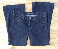 "7 For All Mankind GINGER Flare Dark Wash Denim Womens Jeans  Size 30  28"" inseam"