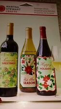 6 Christmas or New Years Holiday Martha Stewart Beverage Labels Wine Soda Cider