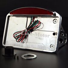 Chrome Motorcycle Custom Side Mount License Plate Holder Bracket Tail Light NEW