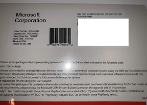 WINDOWS 10  x64 Bit Dvd Plus Product Key Sticker(COA)