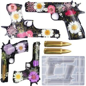 Silicone Pistol Bullets Resin Casting Mold Gun Epoxy Making Mould Craft Tool DIY