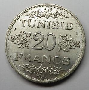 Tunisia 20 Francs AH1353 (a) Silver KM#263 UNC