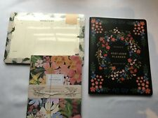 Rifle Paper Co 12 Month Plannerweekly Desk Padstitched Notebook Lot 3