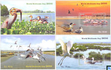 Sri Lanka Stamps 2016, World Wetland Day, Birds, MSs