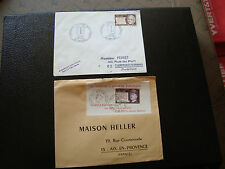 FRANCE - 2 enveloppes 1971 (cy66) french