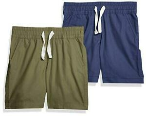 Amazon Brand -  Boys Pull-On Play, 2-pack Olive/Blue, Size X-Large oyHR