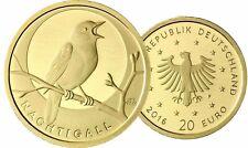 Deutschland 20 Euro 2016 Heimische Vögel Nachtigall 1/8 Oz Gold Mzz F