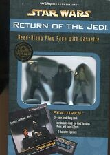 Star Wars Return Of The Jedi Read Along Play Pack Cassette Book w/Figurines