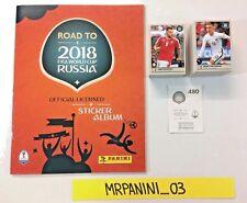 ROAD TO WC RUSSIA 2018 Panini - ALBUM + Set Completo 480 Figurine-stickers