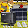 Solar Power Panel Kit Generator LED Light Home Caravan Camping Charging Battery