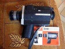 Caméra film Super 8 Eumig 308 Zoom Reflex Objectif 1,8 7,5 60 Notice Française