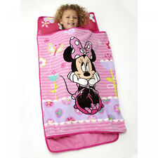 Minnie Mouse Sleeping Mat Nap Toddler Bedding Pillow Blanket Portable Travel New