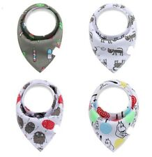 Baby Bandanna Teething Drool Bibs 4 Pack Set Boys Girls Green Red Blue