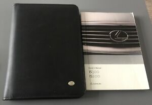 LEXUS iS200 iS300 OWNERS MANUAL HANDBOOK & FOLDER BOOK PACK IS 200 300 1998-2005