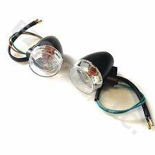 2X TURN SIGNAL BLINKER LIGHT CLEAR GY6 SCOOTER FRONT TAOTAO SCHWINN ZNEN TANK ..