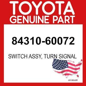 TOYOTA GENUINE OEM 84310-60072 SWITCH ASSY, TURN SIGNAL 8431060072