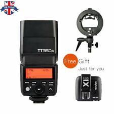 UK Godox 2.4G GN36 TT350O TTL Flash+X1T-O Trigger For Olympus+S type bracket Kit