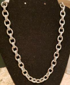"Steel By Design Bold Status Link Necklace 23.5""L"