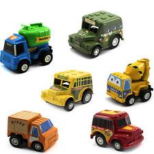 6pcs/Set Kids Nursery Mini Pull Back Cars Truck Vehicle Model Figures magic