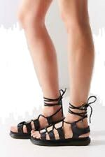 DR MARTENS Gladiator Sandals Kristina Black Soft Wair Lace Up US 9 EU 41 $130