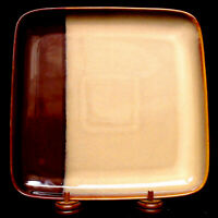 "SANGO POTTERY ECLIPSE BROWN 10.5"" SQUARE DINNER PLATE ~ FREE PRIORITY MAIL ~ EUC"