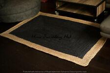 Indian Handmade Natural Jute Floor Reversible Decorative 6 x 9 Ft Carpet Rag Rug