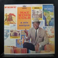 Nat King Cole - A Mis Amigos LP VG+ SW-1220 CAP Latino 1959 Vinyl Record